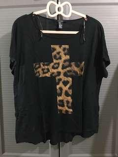 Forever 21 Leopard Print Cross Top