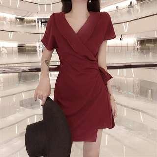 BRAND NEW READY STOCK Red Wrap Dress