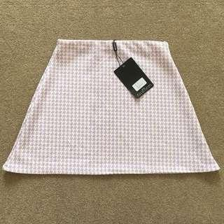 BNWT Lilac houndstooth skirt size 8