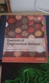 MNO1706 essentials of organizational behaviour textbook
