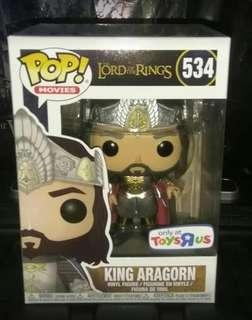 🚚 King Aragorn Lord of the Rings Exclusive Funko Pop