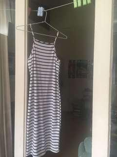 Striped 3/4 length dress