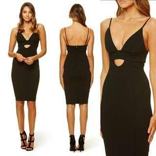 Kookai Black Amaro Midi Dress