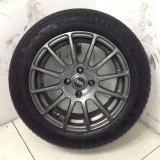 "15"" Sports Rim With Tyres 4X100 (SR1542)"