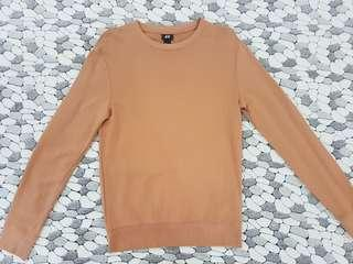 H&M Nude/Brown Cotton Sweater