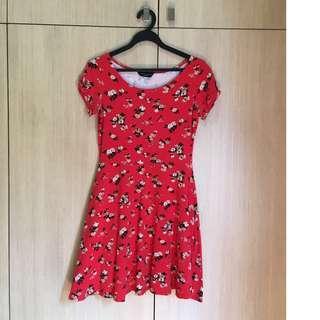 🚚 Dorothy Perkins Red Floral Printed Dress