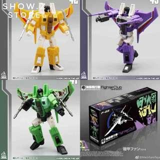 Transformers Mech Fans Toys MFT - F-03 Fighter Club Corrosioner Solarhald Consciouser (set of 3 MISB) plus One free Decepticon Sticker Decal Sheet (Returned buyer get $2 off)
