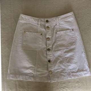 Forever new white denim skirt