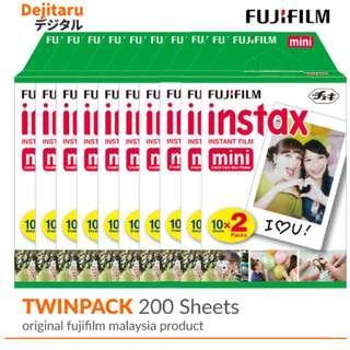 Fujifilm Instax Mini Fuji Instant Film Twinpack X 10 (200 Sheets)