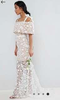 Jarlo Henna 2 Way Flower Crochet Lace Dress