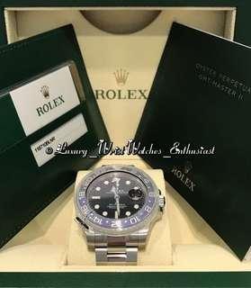 "***SOLD*** BNIB Unworn Overseas Set ♛ Rolex GMT-Master II 116710BLNR ""Batman"""