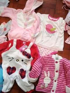 5件 全新 hello kitty Baby doll hallmark croissance bebe 連身衣 外套