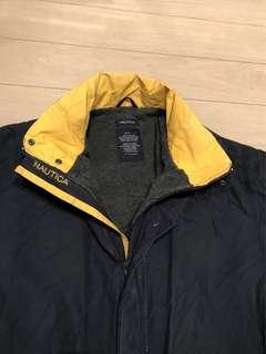 Vintage nautica fleece lined coat