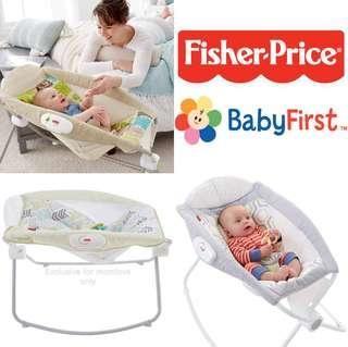 Ready Stock ! *USA Imported* Brand New Fisher Price Rock N Play Sleeper (Best Baby Boy/Girl Shower Full-moon Infant Newborn Gift Set Present)