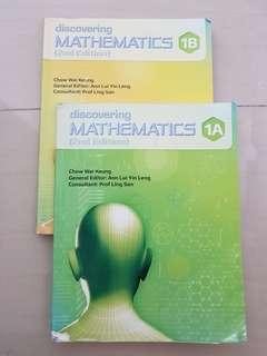 (Used) Sec 1 Maths Textbooks A and B
