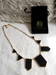 HOUSE OF HARLOW 1960 Station leather necklace (by Nicole Ricci)