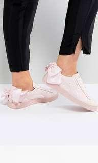 Puma Basket Bow Trainers in Pink