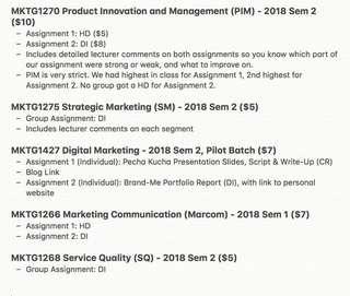 RMIT Marketing Assignments
