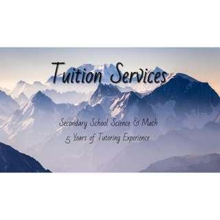 Math & Science Tuition