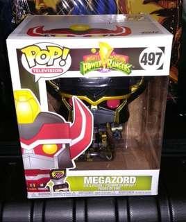 "🚚 Megazord 6"" Black & Gold Power Rangers Exclusive Funko Pop"