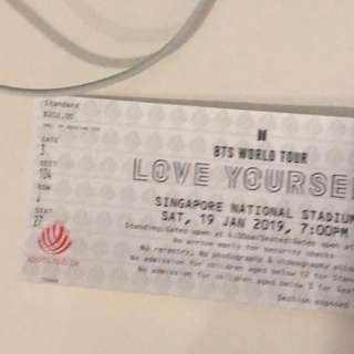 ( WTS ) BTS LOVE YOURSELF TICKET