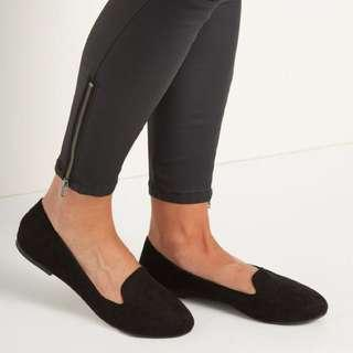 Rubi black slipper flats