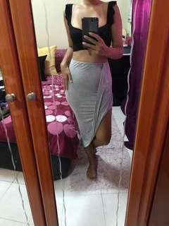 H&M Grey Asymmetric Skirt