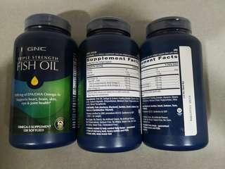 GNC Triple Strength Fish Oil 120softgels
