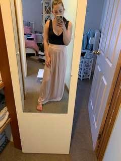 Full length tan skirt