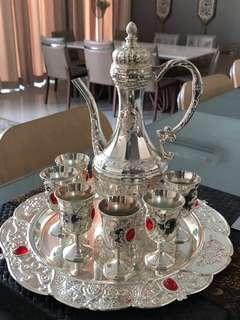 Originally Jordanian Silver vintage tea set
