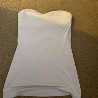 Strapless cream kookai tank