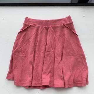 bershka rose pink skater skirt
