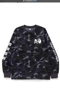 BAPE® NBHD CAMO L/S TEE (Black)