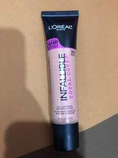 Loreal infallible total cover foundation - shade 307 sand beige
