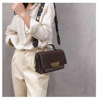 black/khaki/brown/coffee handbag shoulder bag