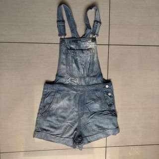 H&M denim romper shorts