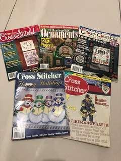 Cross Stitch Magazine x5