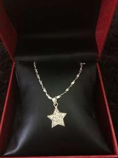 Italy 925 Silver Star Pendant Necklace