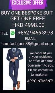 BUY ONE BESPOKE HAND MADE SUIT AND GET ONE FREE