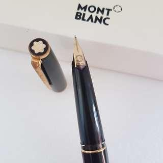 🚚 Rare Luxury MONT BLANC Designer Pen, Fountain Ink Pen, Made in Germany, Avant-grade, Montblanc Meisterstuck with 14K CT 585 Gold Nib Tip, Mont Blanc Box, Iconic, for Yuppies, Generation X, Art Décor, For Collector, Original, Authentic