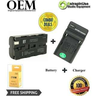 NP-F550 Lithium-Ion Battery (7.4V, 2000mAh) COMBO WITH CHARGER