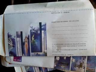 絕版香港建築物專题郵簡共8個