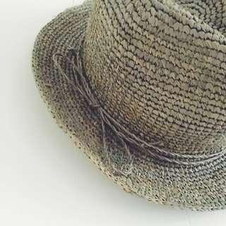 2d59aa5340e BOP BASICS Hat! Raffia Crochet Floppy Fedora