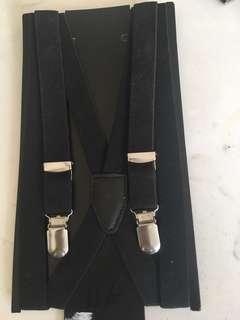 Black H&M Suspenders