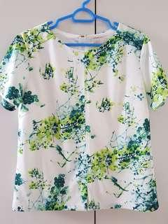 The Blush Inc Green Floral Top