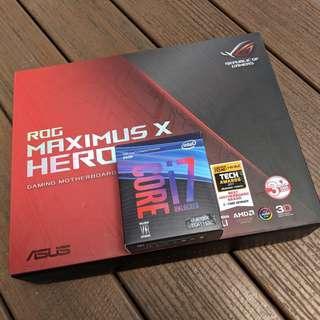 🚚 Intel Core i7-9700K + ASUS Z370 ROG Maximus X Hero Bundle with 3 Years Local Warranty