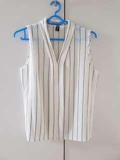 Sleeveless Stripes Top