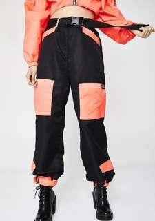 i am gia neon pink imperator pants