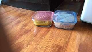 miniso glass containers for storing foods