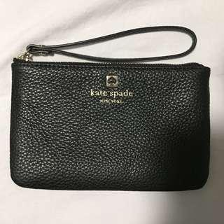 Kate Spade New York Grant Park Bee Pebble Leather Wristlet Wallet